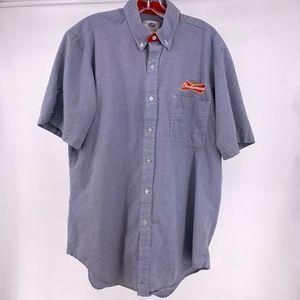 Budweiser Work Shirt Mens Large Blue